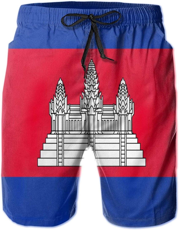 N A OFFer Cambodian Nashville-Davidson Mall Flag 3D Swim Lightweig Trunks Quick-Drying Men's