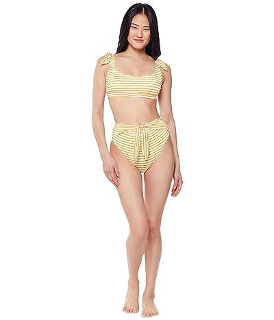 Jessica Simpson Sunshine Stripe High-Waisted Bottoms
