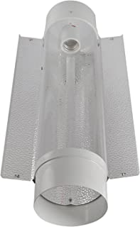 iPower GLCLTB6-a 6 Inch Cool Tube Hydroponic Reflector Hood Light Fixture Add-on Wing for HPS MH Grow Bulb, L, White