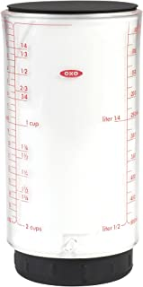 OXO Good Grips 2 Cup Adjustable Measuring Cup,Clear/Black