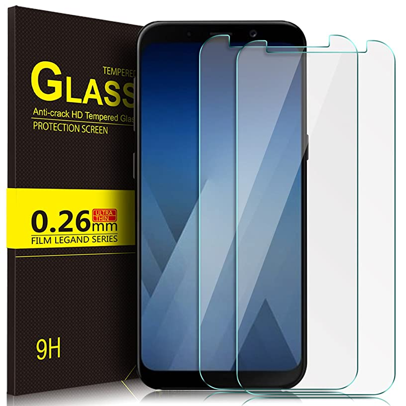Huawei Y9 2018 Screen protector, KuGi Huawei Y9 2018 Screen protector, 9H Hardness HD clear Tempered Glass Screen Protector for Huawei Y9 2018 smartphone(2Pack)