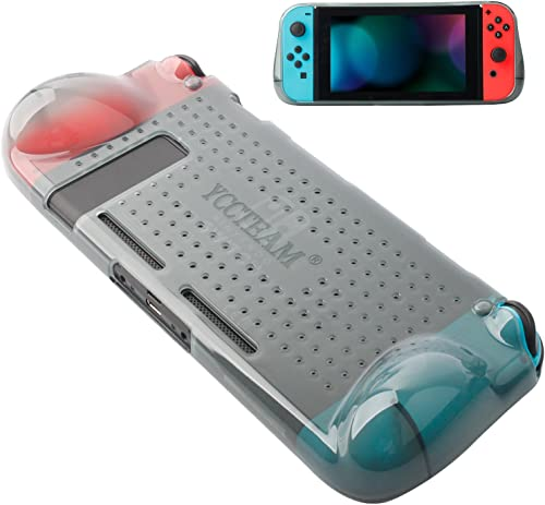 Protective Case Compatible with Nintendo Switch 2018,Grip Cover Case with Shock-Absorption and Anti-Scratch Design So...