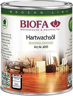 Biofa Hartwachsöl, seidenglänzend - für Parkett, Kork, Holz, Böden und zum Möbel ölen 1 Liter