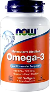 Now Omega-3 2000mg, 100 Count (Pack of 2)