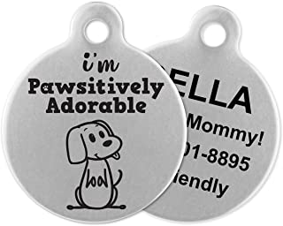 If It Barks - Engraved Pet ID Tags for Dogs - Personalized Stainless Steel Identification Tags - Custom Name Tag Attachment - Made in USA