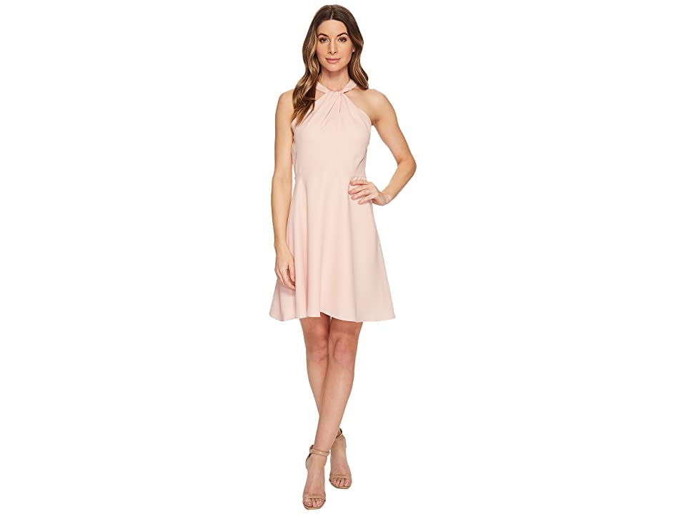 CeCe Gigi- Twist Neck Lace Combo Fit Flare (Rosy Glow) Women