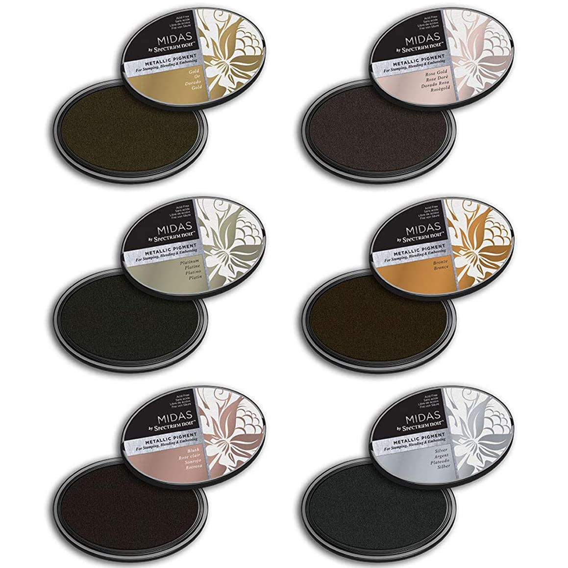 Spectrum Noir SN Inkpad Midas Metallic Bundle, Various
