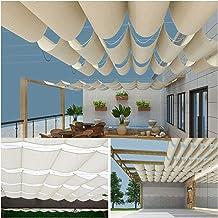 PENGFEI Intrekbare Pergola Luifel Schaduw Cover, Outdoor Vervanging Pergola Covers, UV Bescherming Duurzaam Scherm voor Pa...
