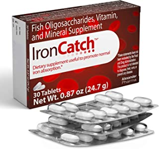 IronCatch - First All-Natural No-Iron Supplements for Better Iron Absorption - Vitamin C and E, Zinc, Copper and Folate - ...