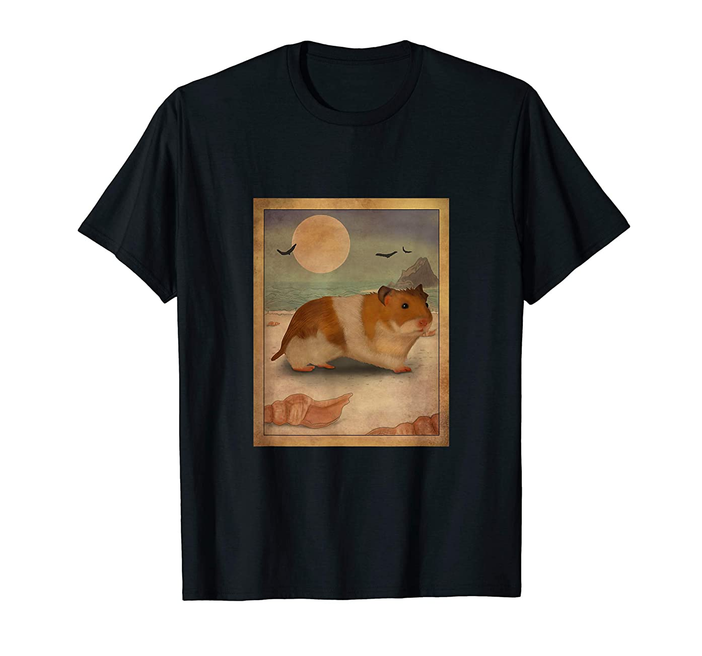 Kids Japanese Art By The Sea Hamster Clothes Outfit Hamster T-Shirt
