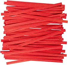 """APQ Pack of 2000 Paper Twist Ties 6"""". Standard Red-Colored Twist Ties 6 for Plastic Trash, Bread Bags. Paper Coated Metal Ties. Bendable Multi-Function Strong Wire Ties for Tying Gift Bags. Wholesale."""