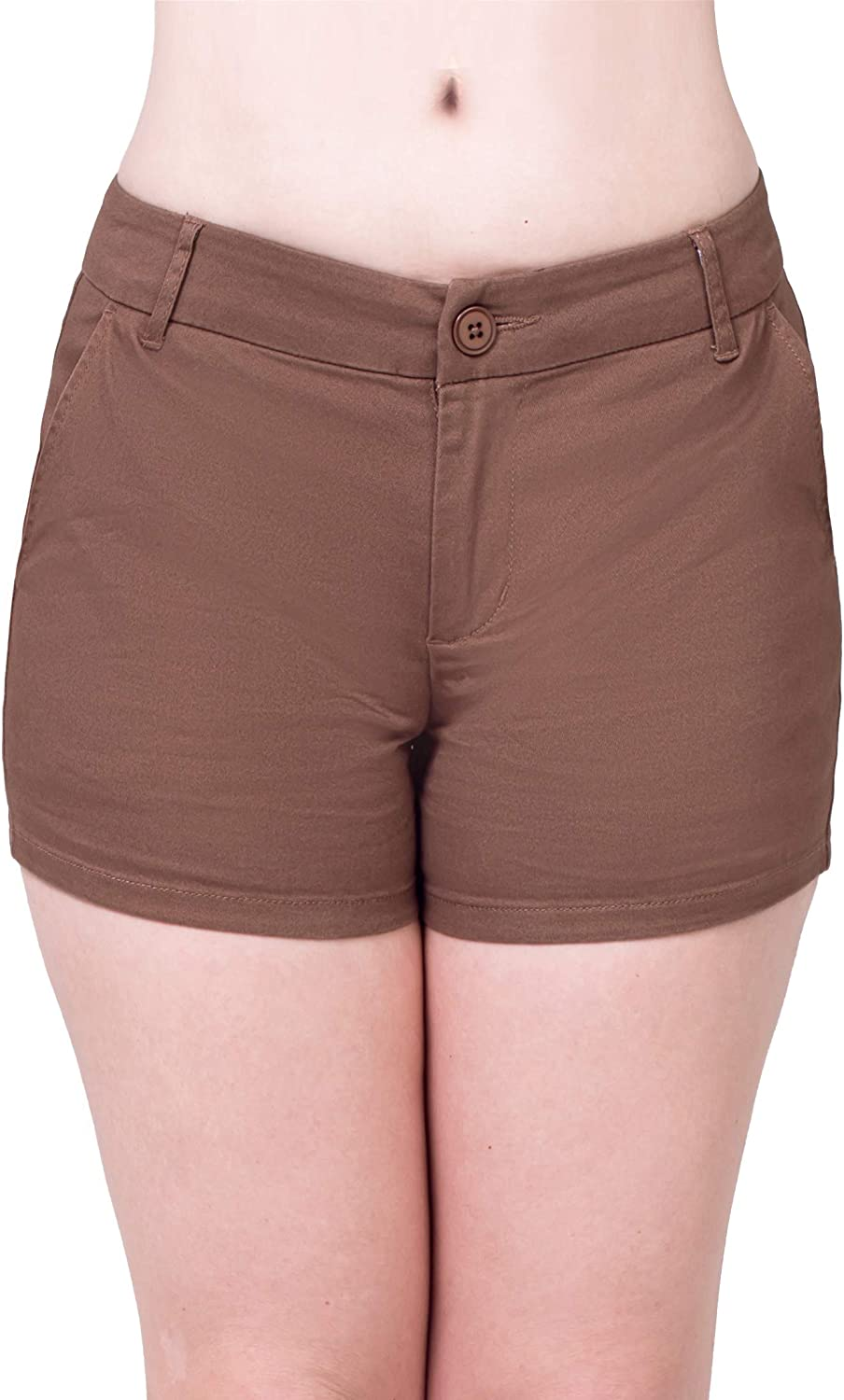 Bebop Women's Casual Shorts, Stretch Cotton Twill