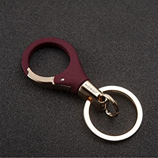 Keychain,Metal Key Chain, Size:Length 8.3cm, Diameter 3.4cm (Color : RED)