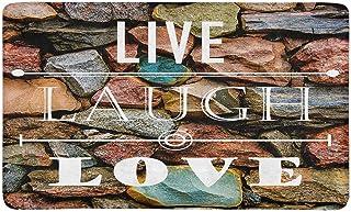 InterestPrint Motivational and Inspirational Quotes Live Love Laugh Doormat Anti-Slip Entrance Mat Floor Rug Indoor/Outdoo...