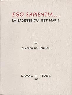 Ego Sapientia...La Sagesse Qui est Marie