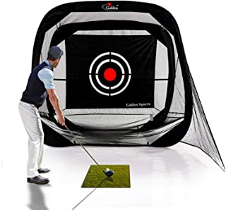 GALILEO Golf Hitting Nets Training Aids Portable Driving Range Golf Practice Net Cage for Backyard Driving Indoor Use with Target 7'(W) x7'(H) x4'(D)