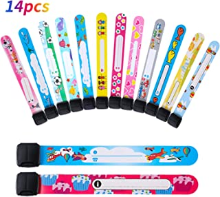 14 Pieces Children Safety ID Wristband Reusable Identification Bracelets Waterproof ID Band Safety Wristband for Boys and Girls