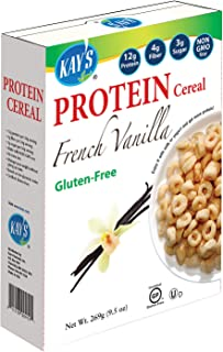 Kay's Naturals Protein Breakfast Cereal, French Vanilla, Gluten-Free, Low Fat, Diabetes Friendly All Natural Flavorings, 9...
