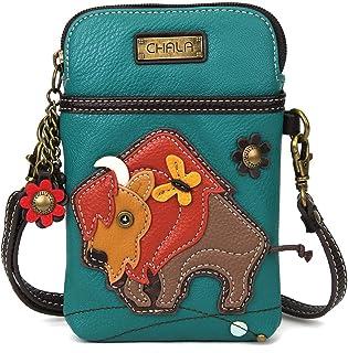 کیف پول تلفن همراه Chala Crossbody - کیف دستی چند رنگی چرم PU زنان با بند قابل تنظیم