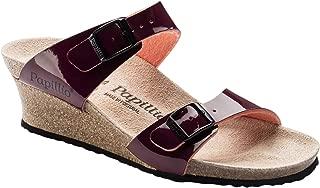 Papillio Womens Dorothy Birko-Flor Patent Two-Tone Patent Wine Sandals 9 US