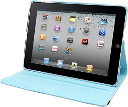 Natico iPad Mini IV 360 保护套,人造色,浅蓝色(60-IM4-360-LBL)