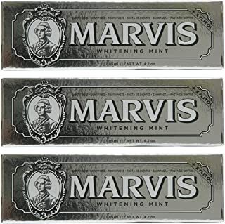 Marvis Toothpaste Whitening Mint 85ml, 3 - Pack (3 x 85ml