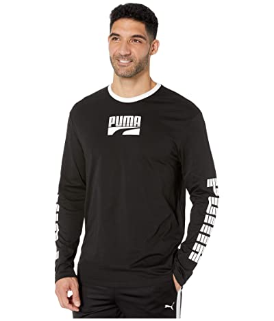 PUMA Rebel Bold Long Sleeve Tee (PUMA Black) Men