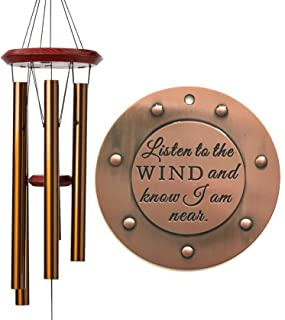 DIRECT Shipping Large Sympathy Memorial Deep Tone Wind Chime Gift after loss Copper Rush Shipping for Funeral Loss in Memory of Loved One Listen to the Wind Christmas Gift