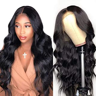 Premium 9A Lace Front Human Hair Wigs Pre Plucked with Baby Hair, 150% Density Brazilian Body Wave Lace Frontal Wigs Human Hair for Black Women Natural Color Lace-Front-Human-Hair-Wigs(16 Inch)