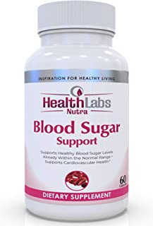 Health Labs Nutra Blood Sugar Ultra - Supports Healthy Blood Sugar Levels, Cardiovascular Health, Strengthens Immune Syste...