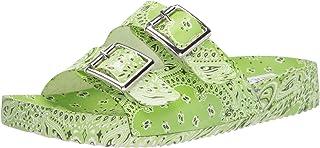 صندل مسطح للسيدات من ستيف مادين، أخضر متعدد، 11