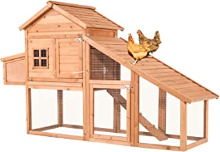 Lovupet Outdoor Wooden Chicken Coop Nest Box Hen House Cage Poultry Pet Hutch Garden Backyard Cage