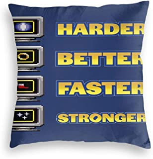 Lhgs5sv Harder, Better, Faster, Stronger Velvet Throw Pillow Covers Both Sides Sofa Square Cushion Cover Pillow Case with ...