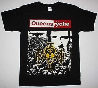 メンズTシャツQUEENSRYCHE OPERATION MINDCRIME'88プログレッシブメタルサベージ夏おかしいプリント半袖屋外DIYかわいいTシャツルーズスリム漫画コットンOネックトップス