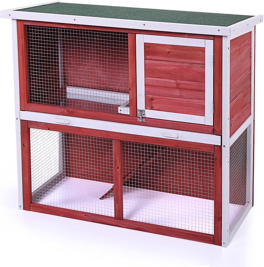 Upgrade Rabbit Hutch Cage Indoor Bu Weatherproof Outdoor Cheap mail order Ranking TOP12 sales