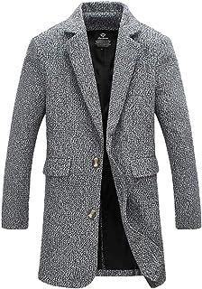 Cappotto Invernale da Uomo Cappotto Lungo Maniche Lunghe Risvolto Abbigliamento Giacca Vintage Slim Fit Winter Fashion Cla...