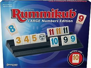 Pressman Rummikub Large Numbers Edition - The Original Rummy Tile Game Blue, 5