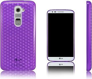 Xcessor Diamond - Flexible TPU Gel Case for LG G2. Purple/Transparent