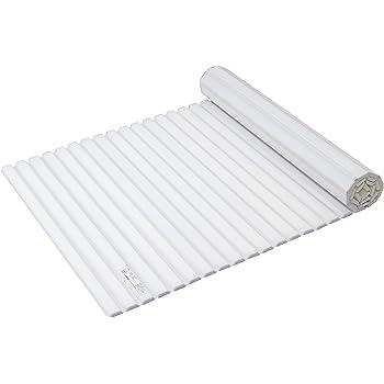パール金属 風呂ふた ホワイト 75×142.5cm シャッター式 スタイルピュア L14 HB-4389