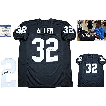 Marcus Allen Signed Custom Jersey - Beckett - Autographed w/ Photo - Black