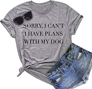 e886d107c Gnpolo Womens Funny Saying T Shirts - Sorry I Can't I Have Plans with
