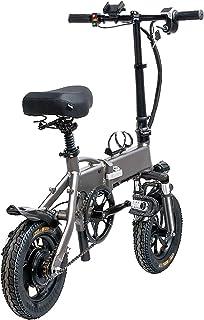 """Adima Ebike Pliant Vélo Électrique, 12"""" 350 W 48V Vélo Électrique avec Moteur sans Balais Haute Vitesse Et Support De Télé..."""