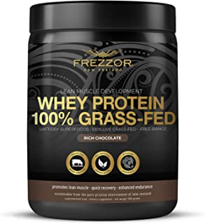 FREZZOR 100% Grass-Fed Whey Protein Shake 1-Pack, New Zealand, Chocolate Cacao, Keto Friendly, 24 Superfoods, 29g Protein,...