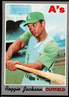 Baseball MLB 1970 Topps #140 Reggie Jackson Athletics