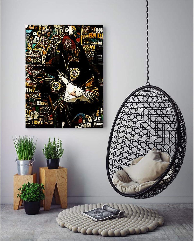 despacho de tienda Oedim Cuadro verdeical en Aluminio Impresión Digital Digital Digital Cara Gato 55 x 55 cm   Cuadro para Parojo, Resistente y Económico  para barato