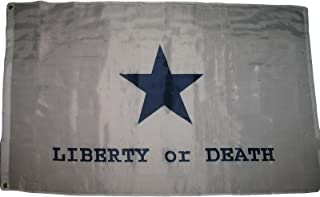 ALBATROS 3 ft x 5 ft Goliad Liberty or Death Texas Battle Flag Star Flag Banner Grommets for Home and Parades, Official Party, All Weather Indoors Outdoors