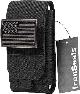 جراب هاتف محمول من IronSeals Tactical Molle ، جراب حزام حلقة شديد التحمل مع رقعة علم لهاتف iPhone 12 Pro Max/12 Pro/12/11 ...