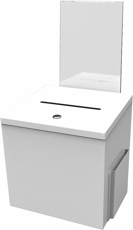 FixtureDisplays White 2021 new New product!! Metal Donation Key Box Suggestion Charity