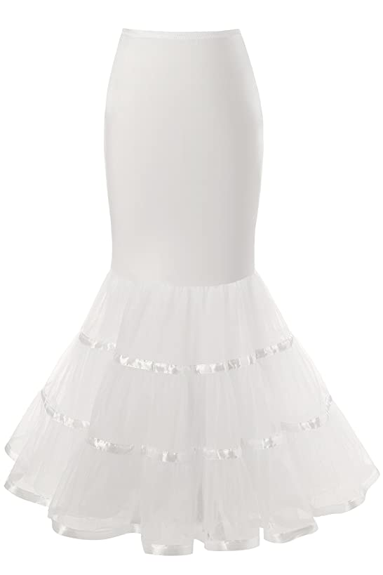 Snowskite Womens 3 Layers Floor Length Trumpet Mermaid Wedding Dress Petticoat hom8913962077948