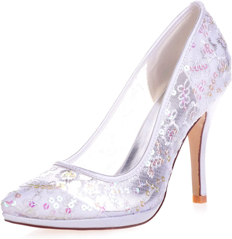 Fashionbride Women's Sequins High Heels Stiletto Wedding shoes Bridal Pumps
